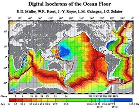 Digital Isochrons of Ocean Floor