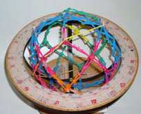 Hoberman Sphere in Globe Stand